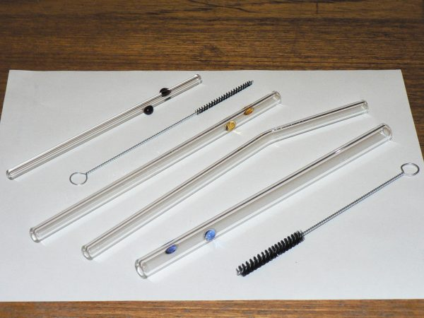 Glass Dharma reusable glass drinking straws