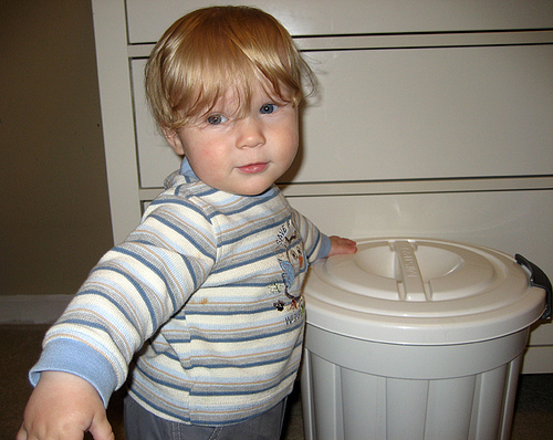 Jacob and his diaper pail