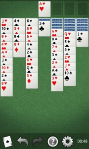 Yukon solitaire for mobile phone