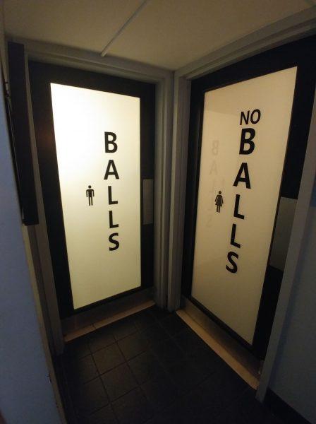 Balls No Balls restrooms 8 Ball restaurant Baltimore MD
