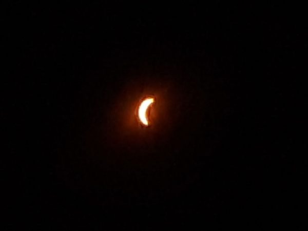 partial phase solar eclipse 2017 Andrews NC