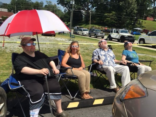 Waiting for the total solar eclipse Andrews NC