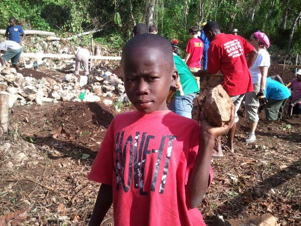 Building a school in Haiti with BuildOn