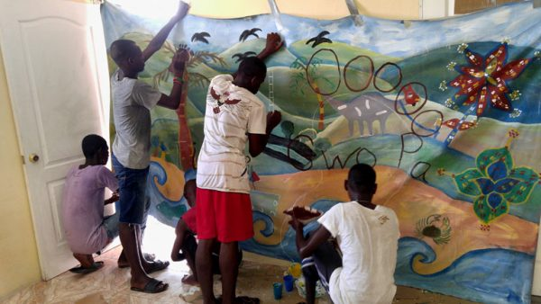 Art and art therapy with Little Footprints Big Steps in Haiti