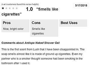 Smells like cigarettes