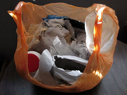 Beth Terry's 2011 Plastic Trash Collection by Beth Terry, on Flickr