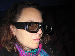 Beth Terry wearing 3D glasses