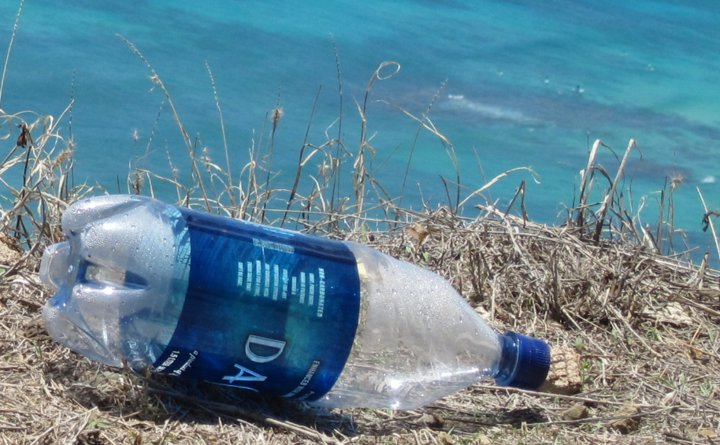 Dasani bottle litter