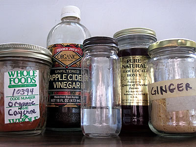 Homemade Cough Syrup Ingredients