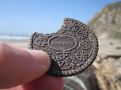 fake plastic Oreo cookie