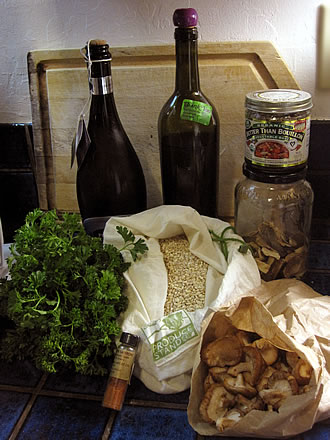 Mark Bittman's mushroom barley risotto ingredients