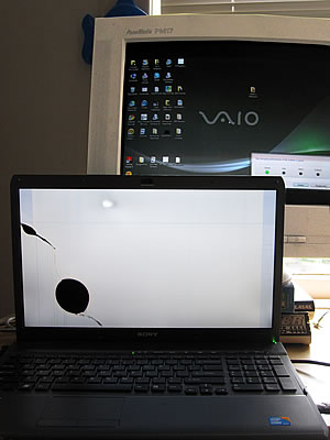 broken laptop monitor