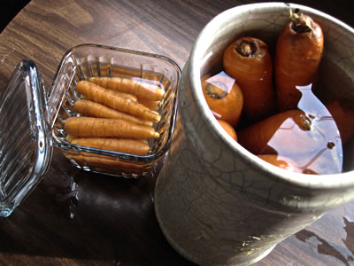 how to store  carrots without plastic