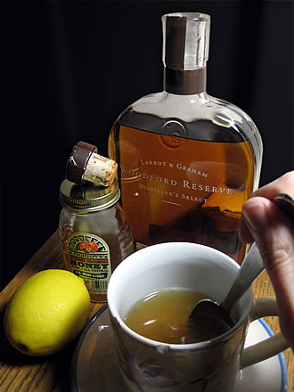 Honey, Lemon, Bourbon cough syrup
