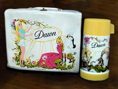 Dawn doll lunch box and Thermos