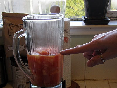 making homemade ketchup