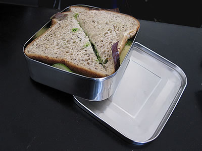 LunchBots Uno Stainless sandwich container