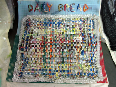 plastic quilt project