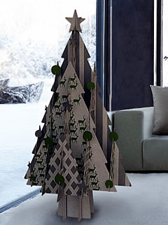 recycled cardboard Christmas tree