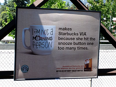 Starbucks VIA billboard