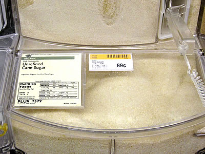 organic bulk sugar from Whole Foods