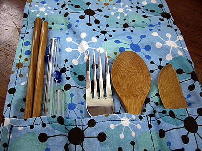 reusable utensil wrap set
