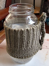 mason jar travel mug with cozy