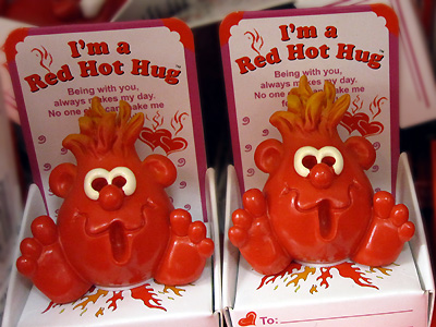 Valentine's Day red hot hug