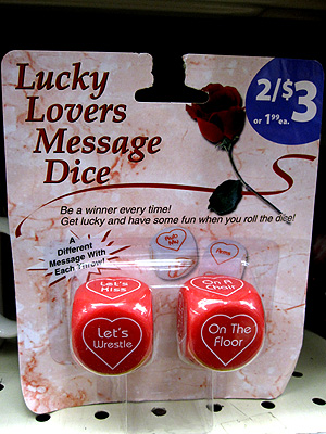 Valentine's Day lucky lovers dice