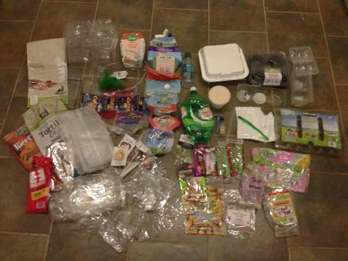Plastic Challenge: Jenny Erickson, Week 1